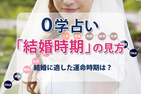 0学占いで結婚時期を見る方法